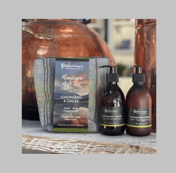 Highland Soap Company Hand Care Gift Set – Lemongrass and Ginger