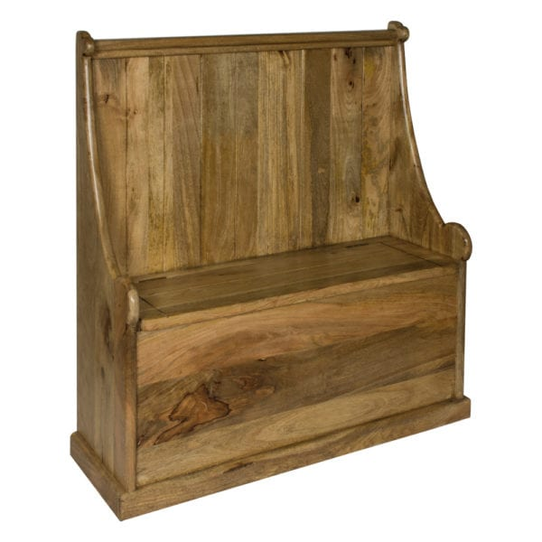 Country Style Solid Wood Monks Bench