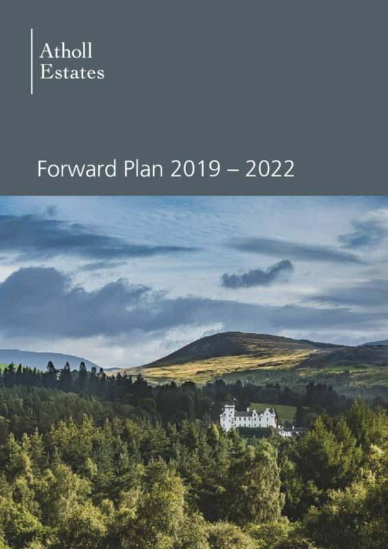 Blair Castle Forward Plan