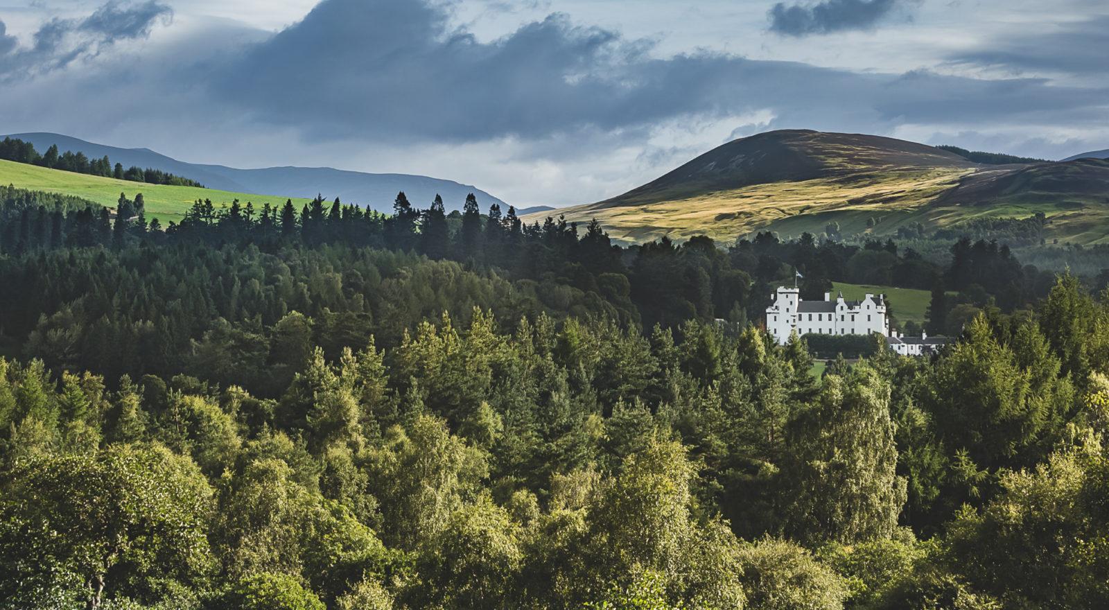 Blair Castle View over Atholl Estate