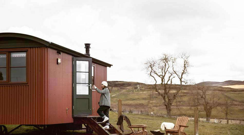 Shepherds' Huts for glamping on Atholl Estates, Highland Perthshire, Scotland