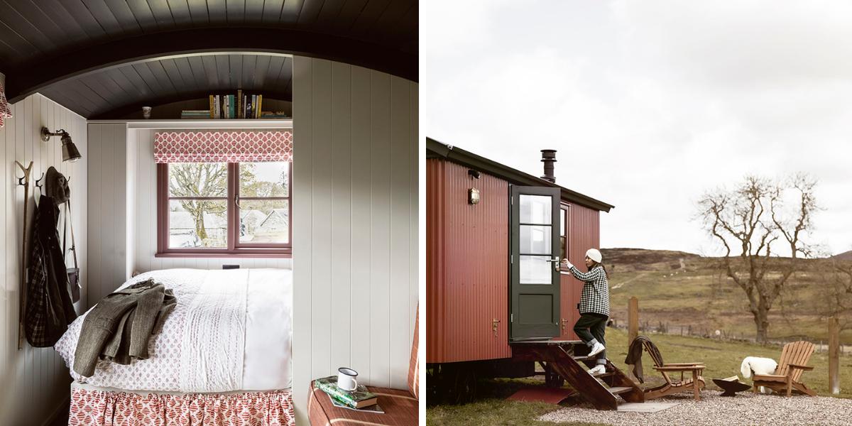 Glamping shepherd huts Highland Perthshire
