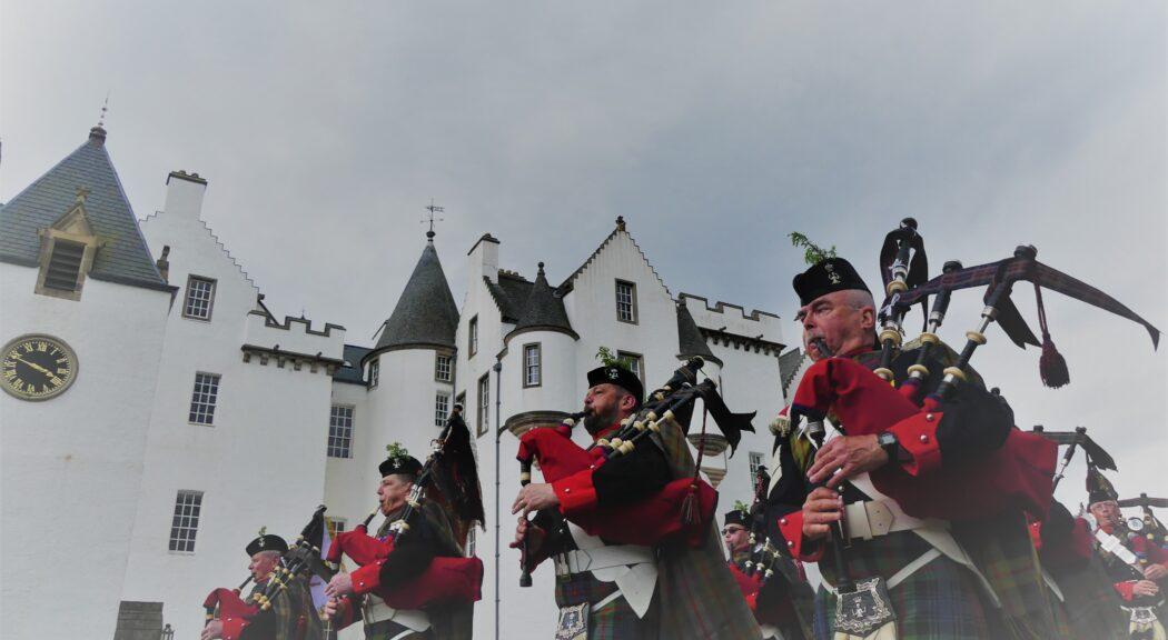 atholl highlanders parade at Blair Castle