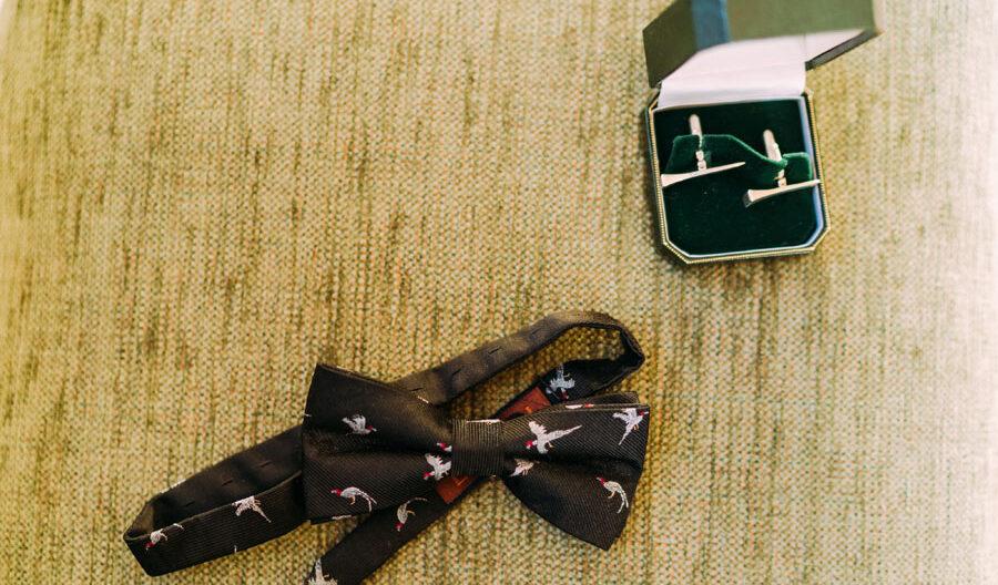 wedding tie and cufflinks