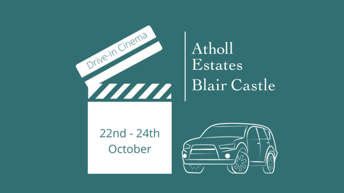 drive-in cinema at Blair Castle this October