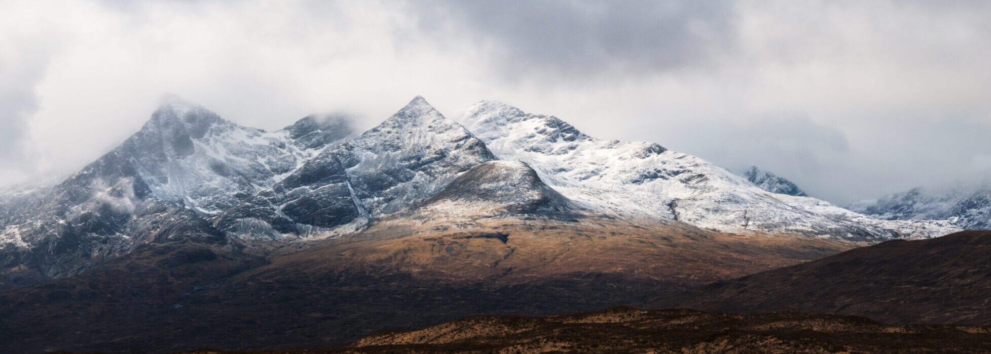 Cuillins Moody Snow