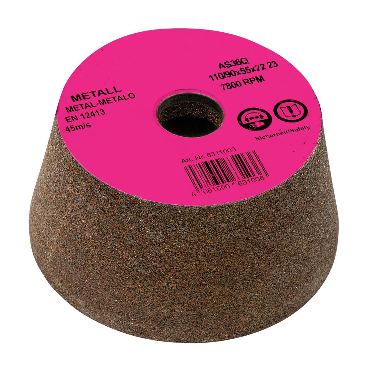 THREADED ABRASIVE CUP GRINDING WHEEL