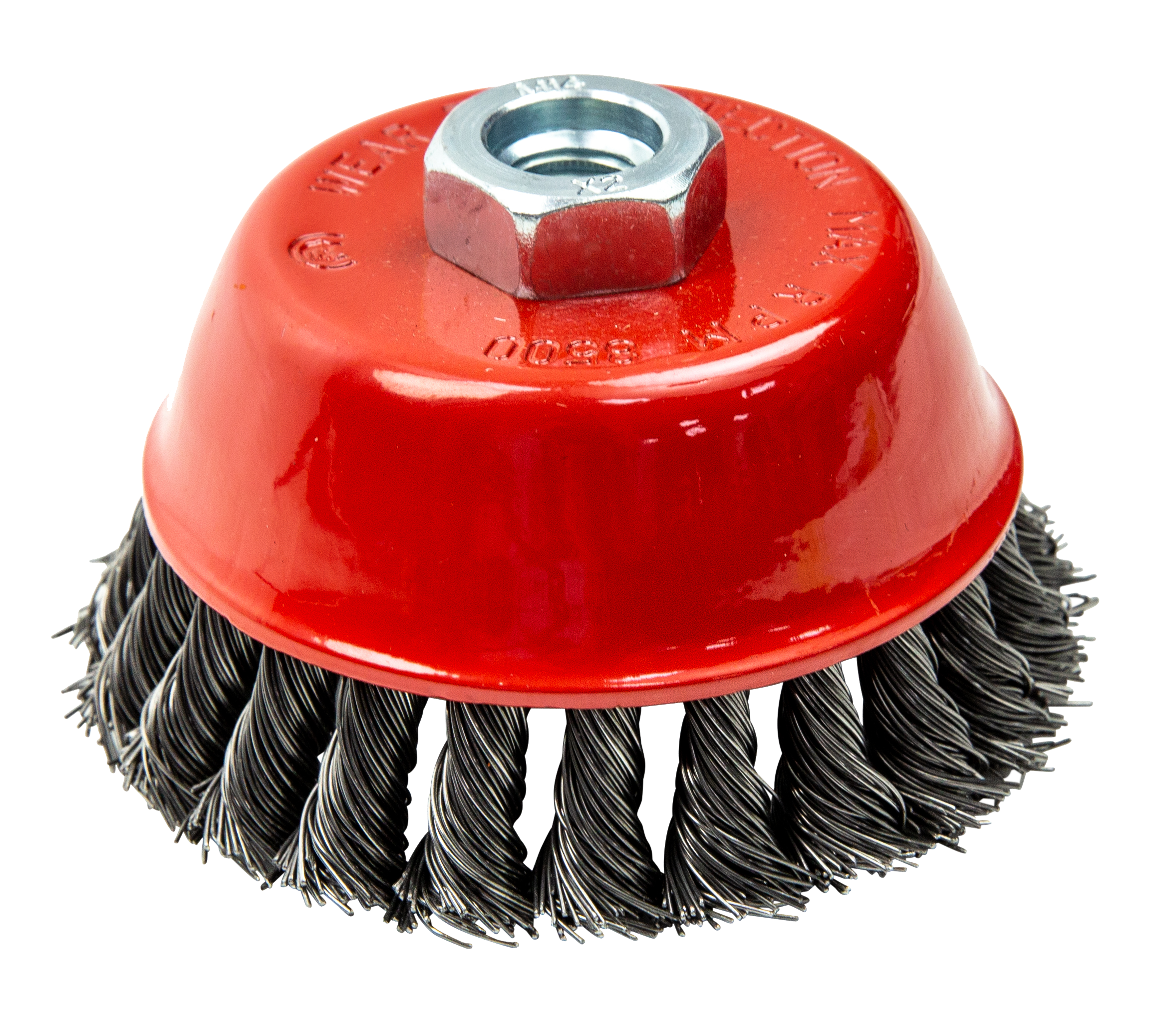 BEVEL TWIST KNOT CONICAL WIRE BRUSH FOR GRINDER