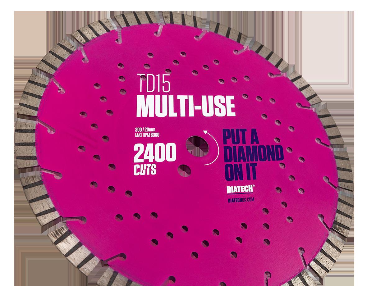Multi-Materials Diamond Cutting Disc TD15