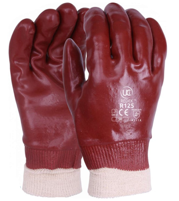 PVC GLOVES RED