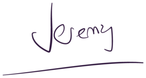 Jeremy as a signature