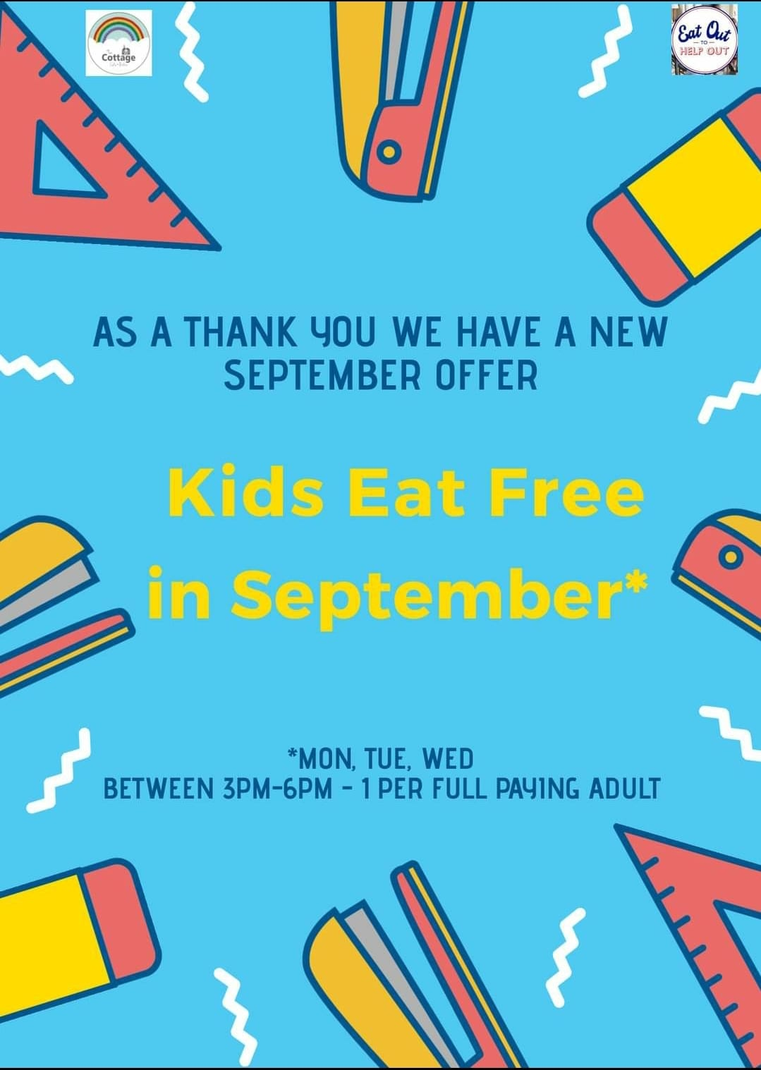 Kids eat free in September at The Cottage Cafe