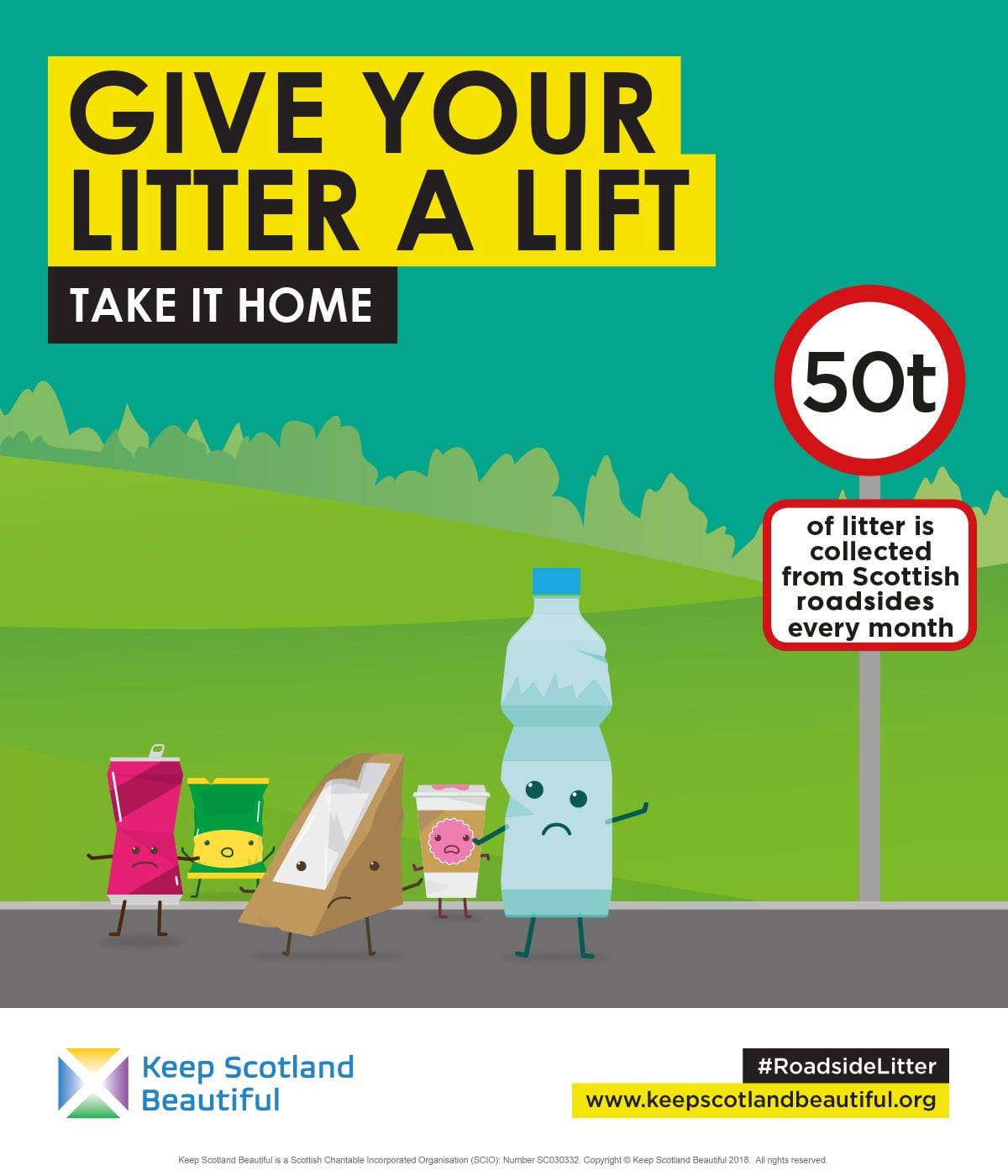 Keep Scotland Beautiful – Give your litter a lift