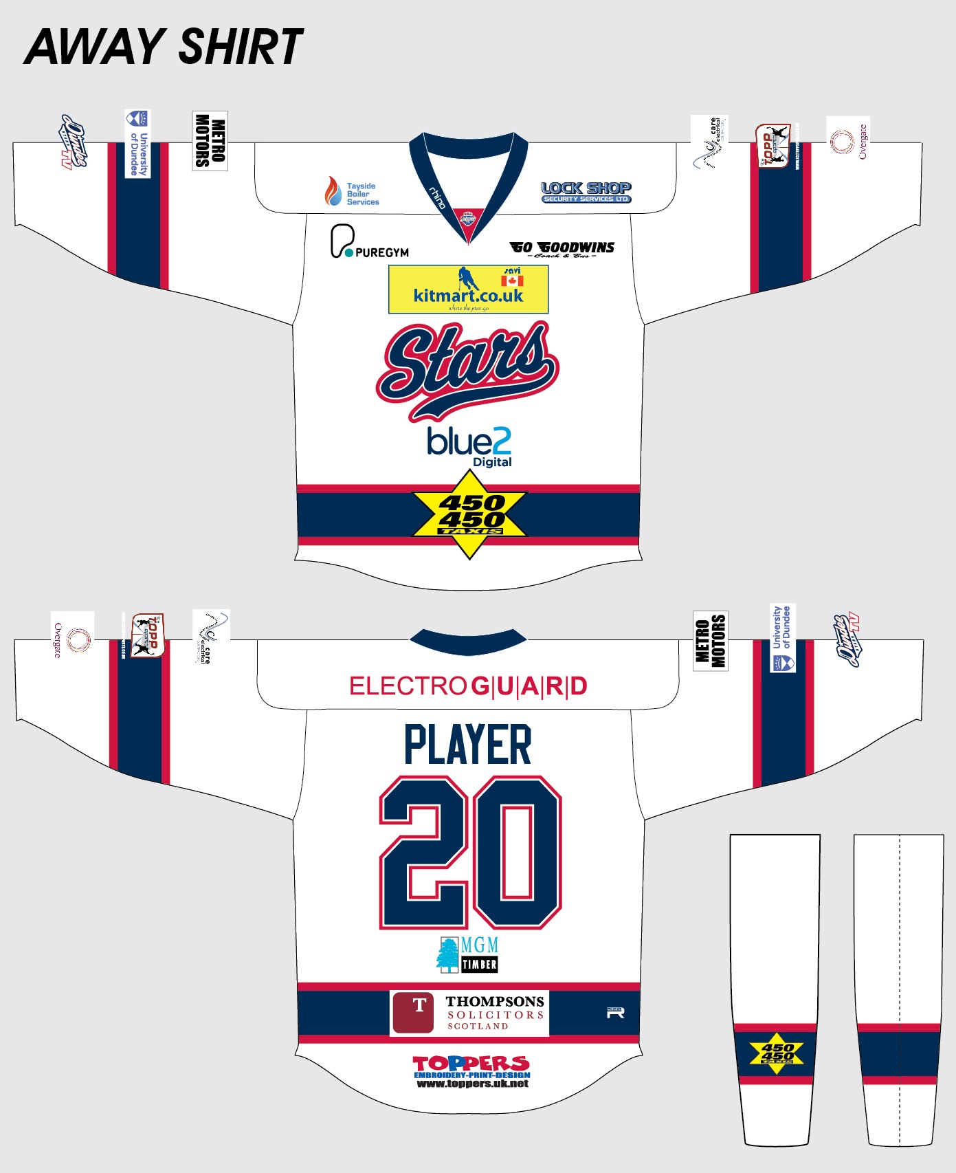 info for 33e7e 880cb Dundee Stars Home and Away Jerseys Revealed - Dundee Stars