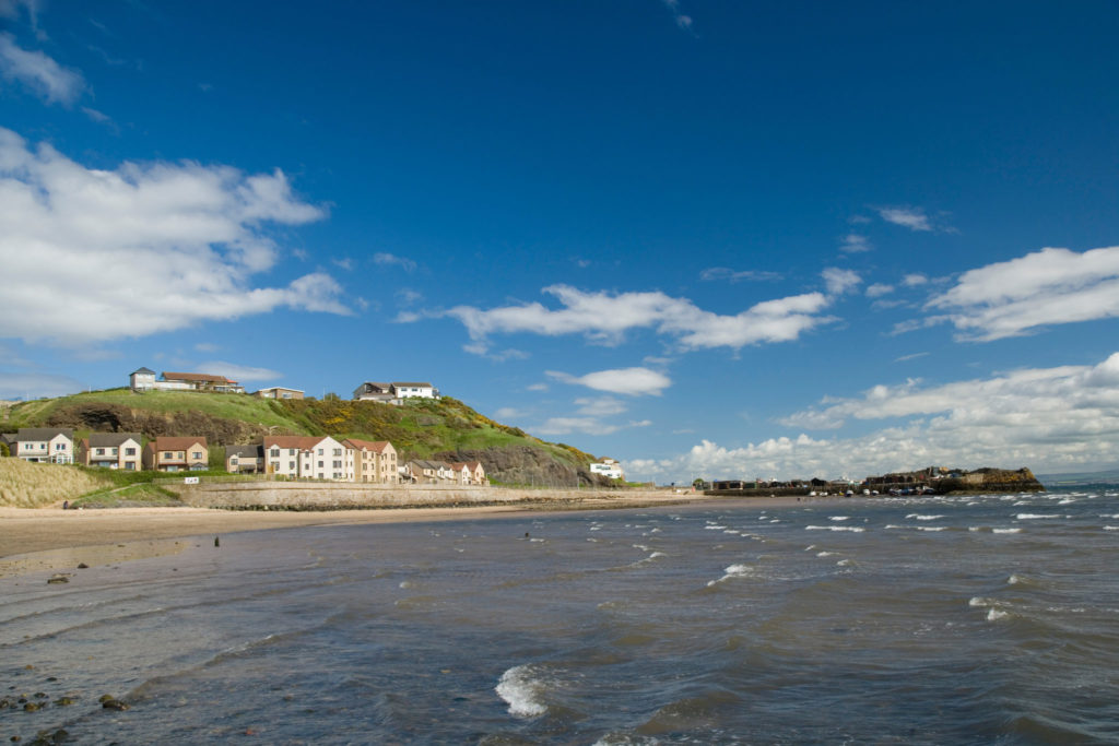 Pettycur Beach in Kinghorn