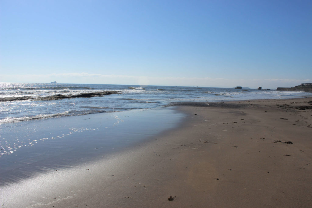 Kirkcaldy Seafield Beach looking towards Inchkeith