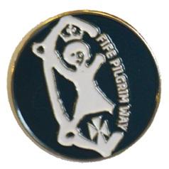 Pilgrim way pin badge