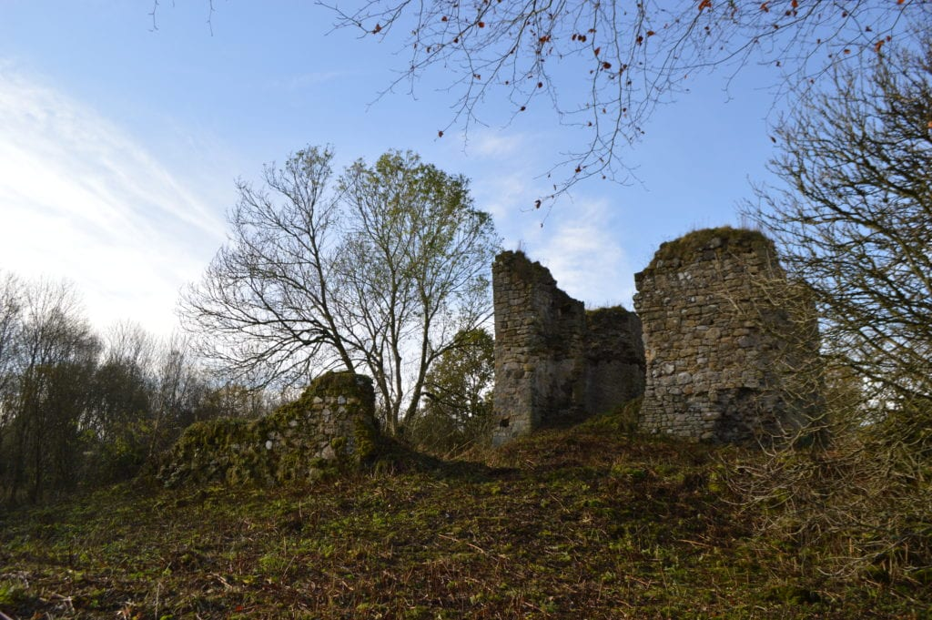Lochore Castle before consolidation works