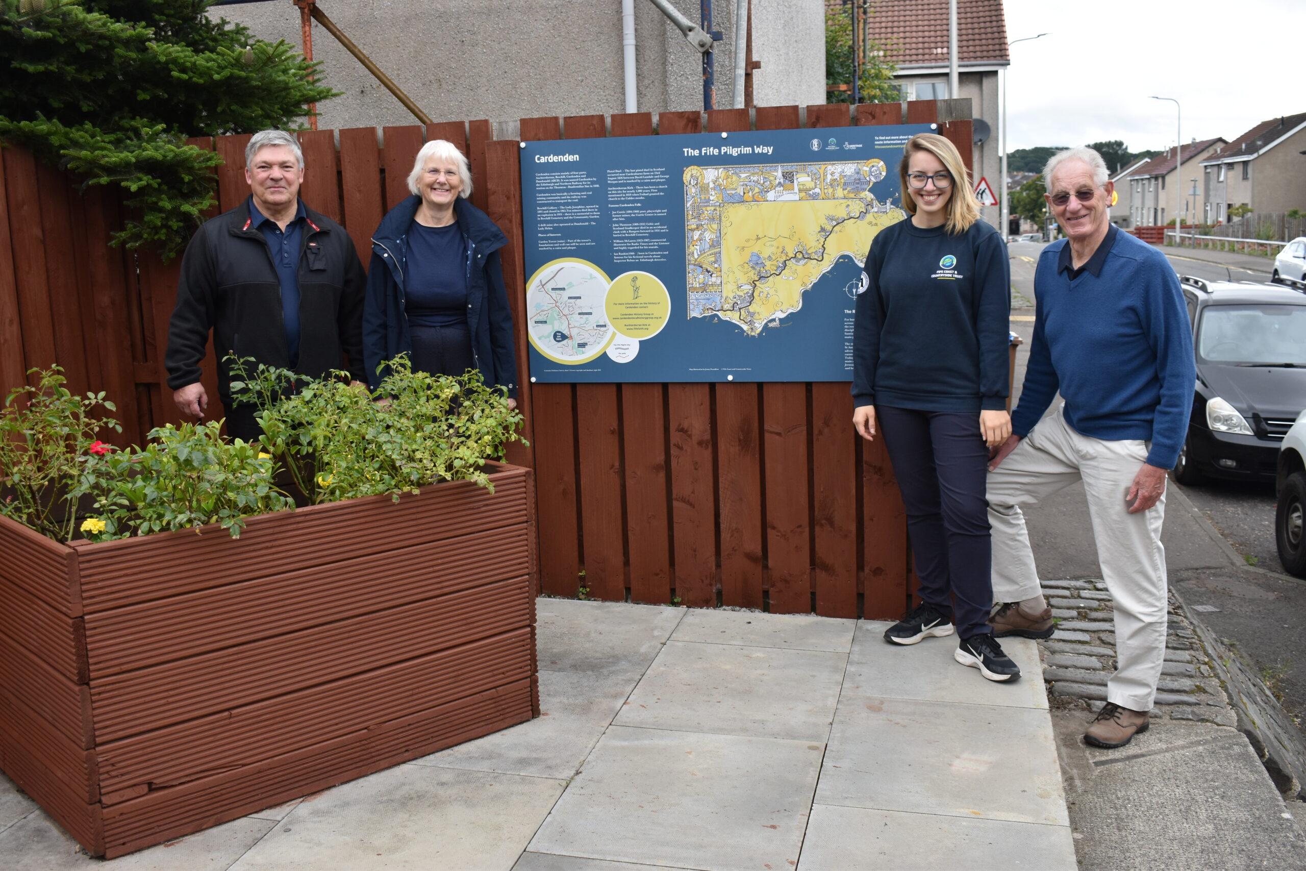 New Fife Pilgrim Way Interpretation Panel Unveiled in Cardenden.