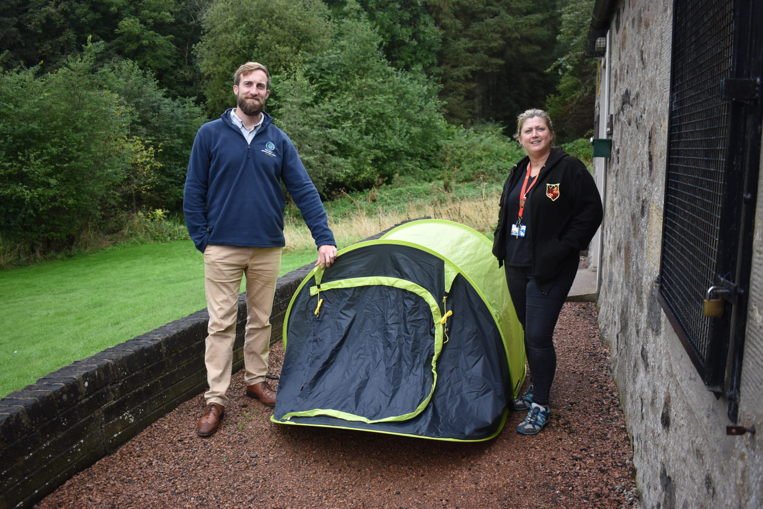 Abandoned Tents Find a New Home
