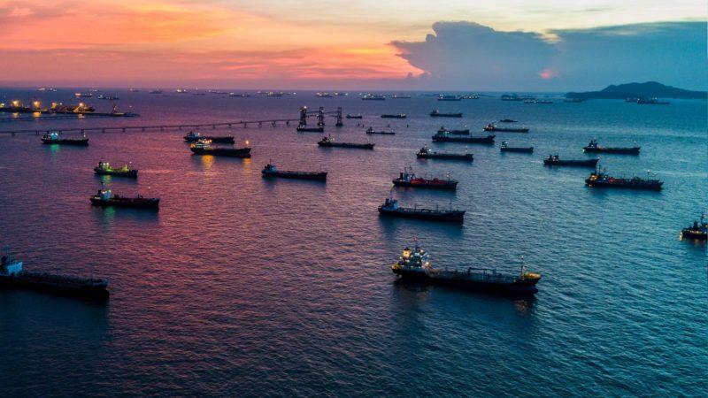Service vessels gather
