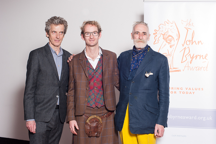 Peter Capaldi, Hamish Matheson, and John Byrne