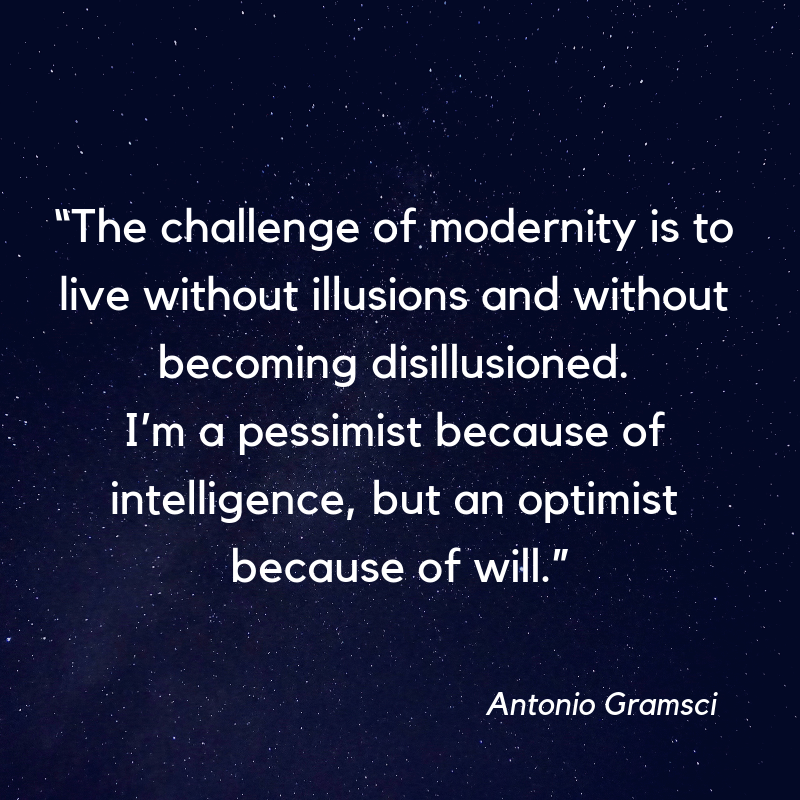 Is it possible to live without illusion without becoming disillusioned?