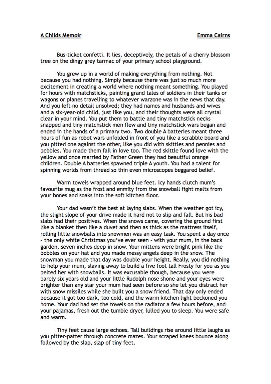 A Child's Memoir