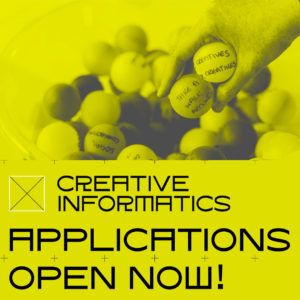 The John Byrne Award partners with Creative Informatics, £20,000 available to work with us.