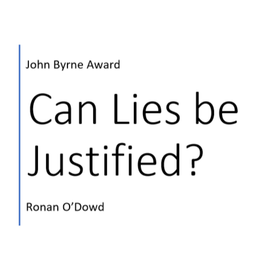 Can lies be justified?