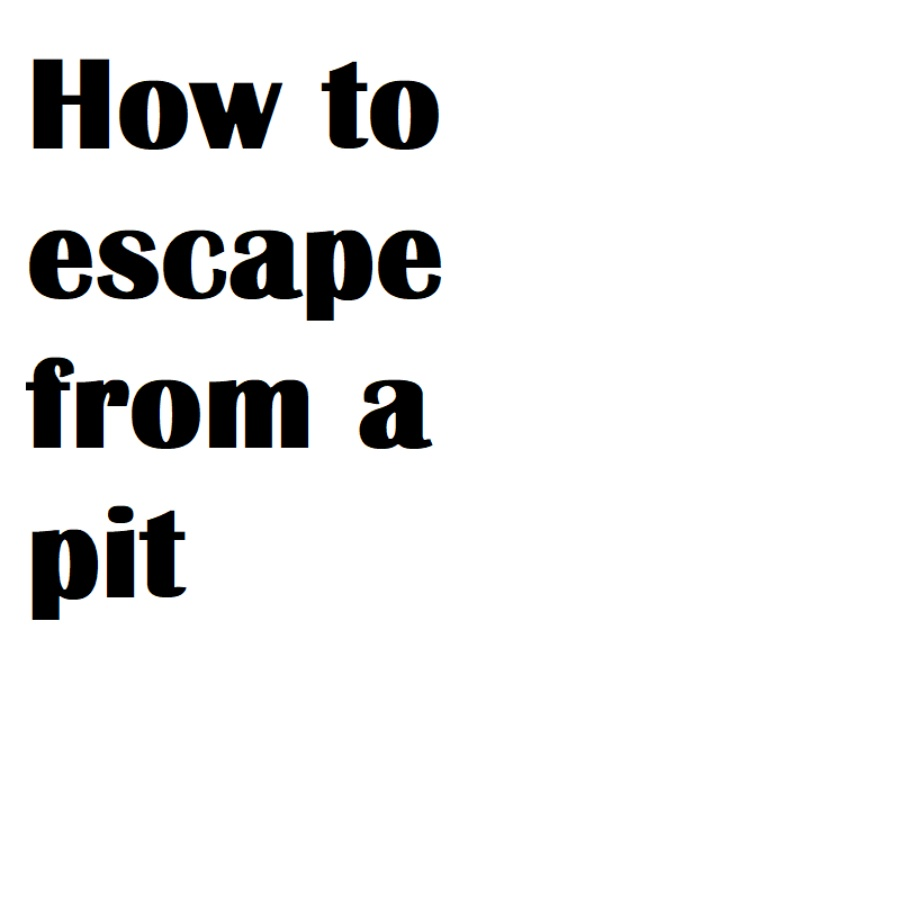 Is the pit real, or is it all in the mind?