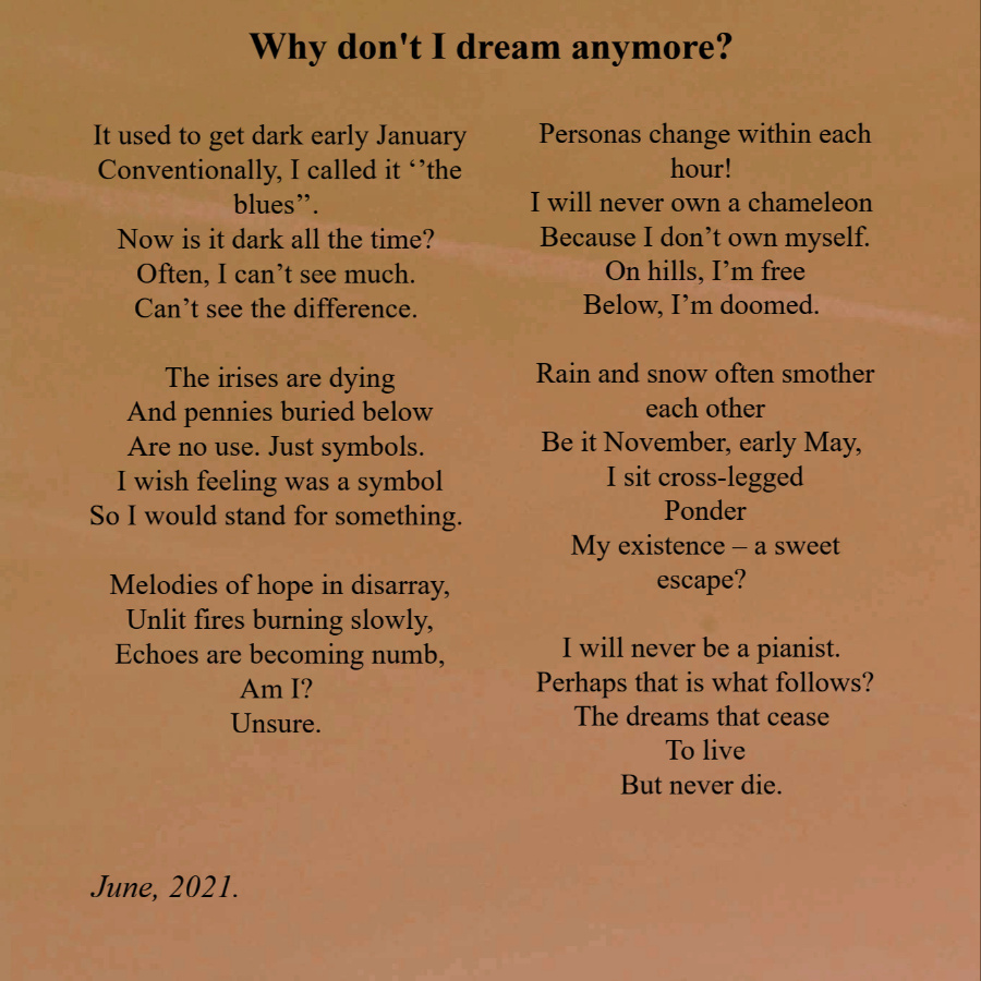 'Why Don't I Dream Anymore?'