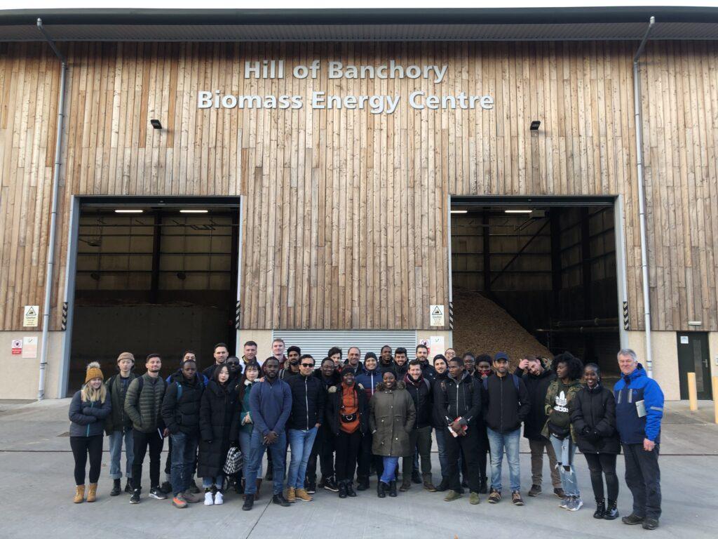 Aberdeen University Students visit Leys Estate Biomass