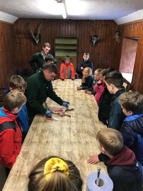 Torphins Scouts Learn about Leys Estate work