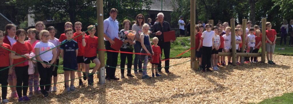 Crathes Primary Trim Trail opening on Leys Estate