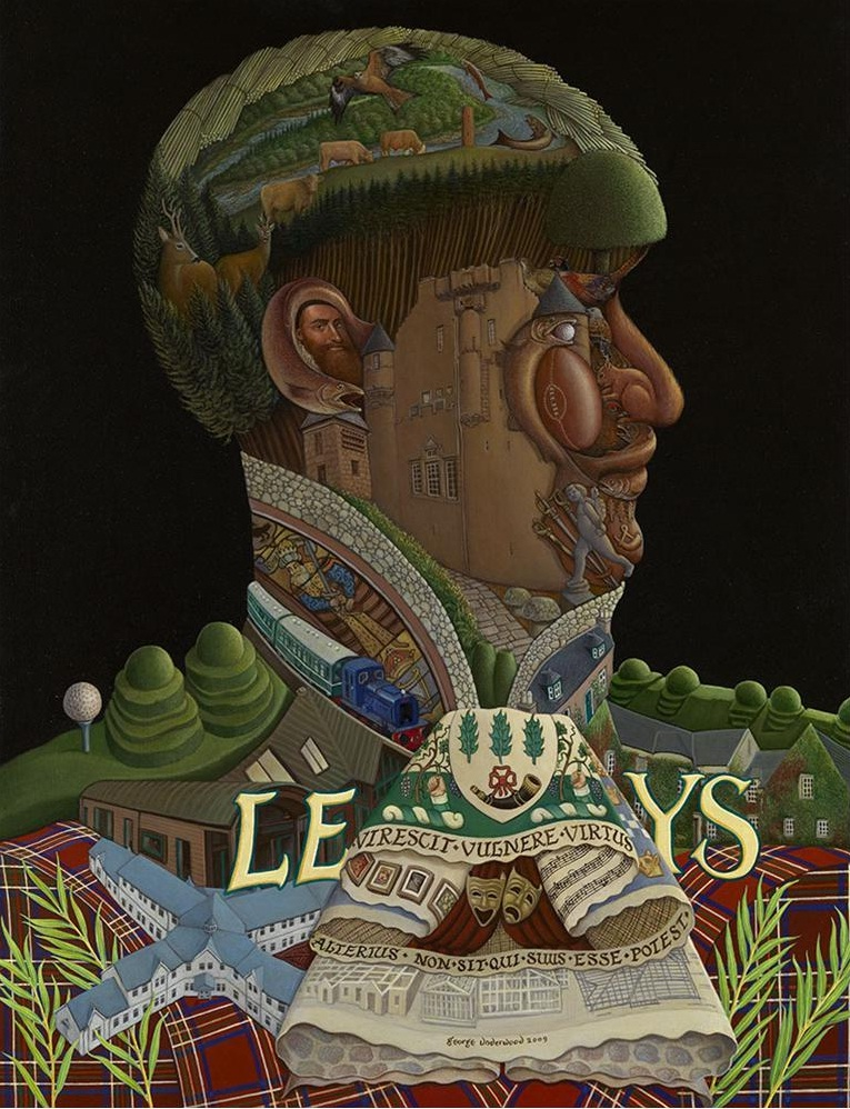 Depicts aspects of Leys Estate