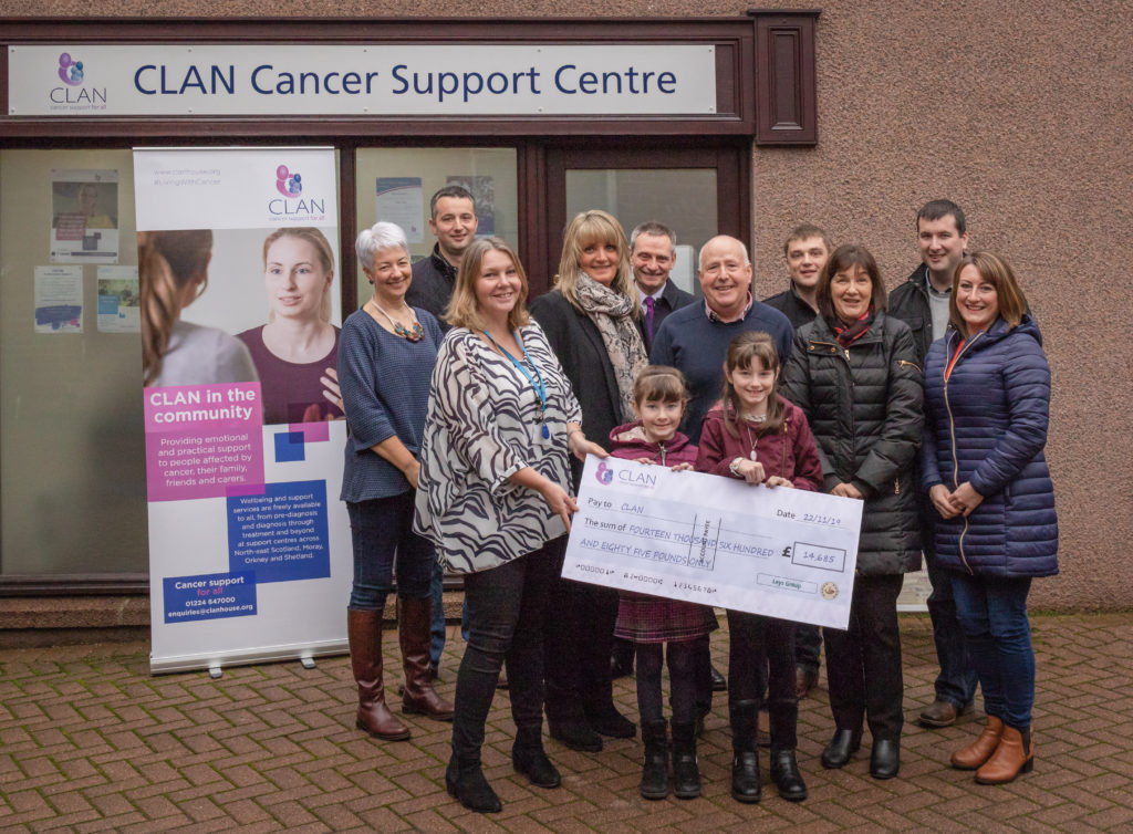 Leys Group donation to CLAN Cancer Support