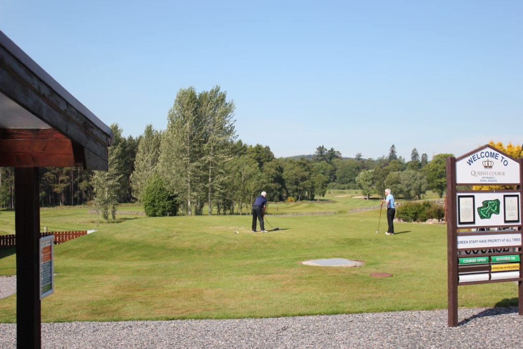 Golfers tee off at Inchmarlo Golf Centre