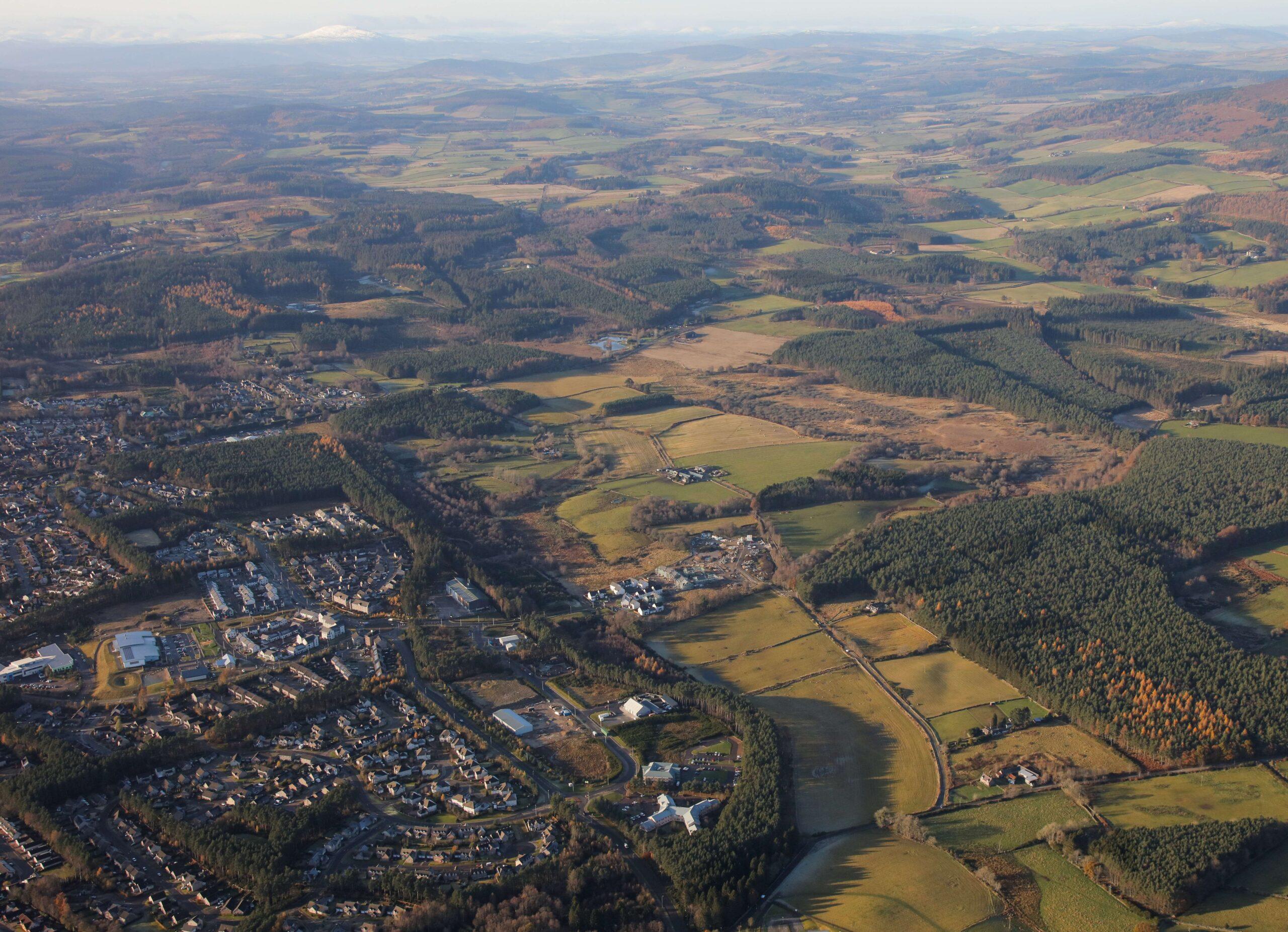 Leys Estate aerial view