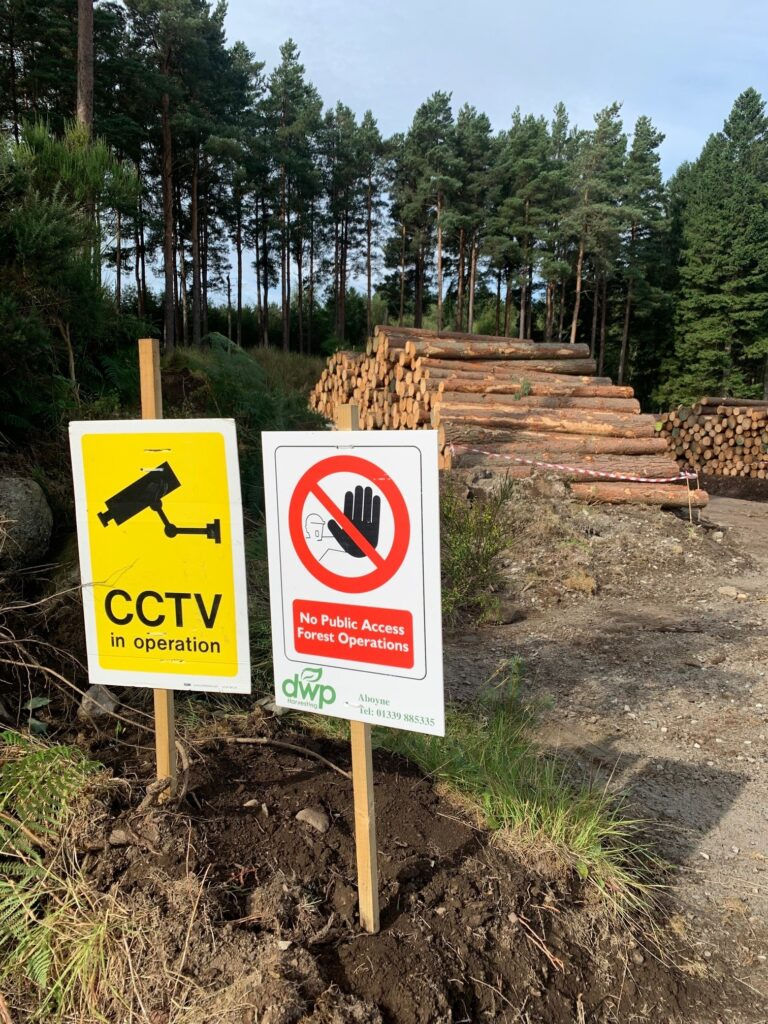 Leys Estate reminds youngsters of the dangers around timber stacks
