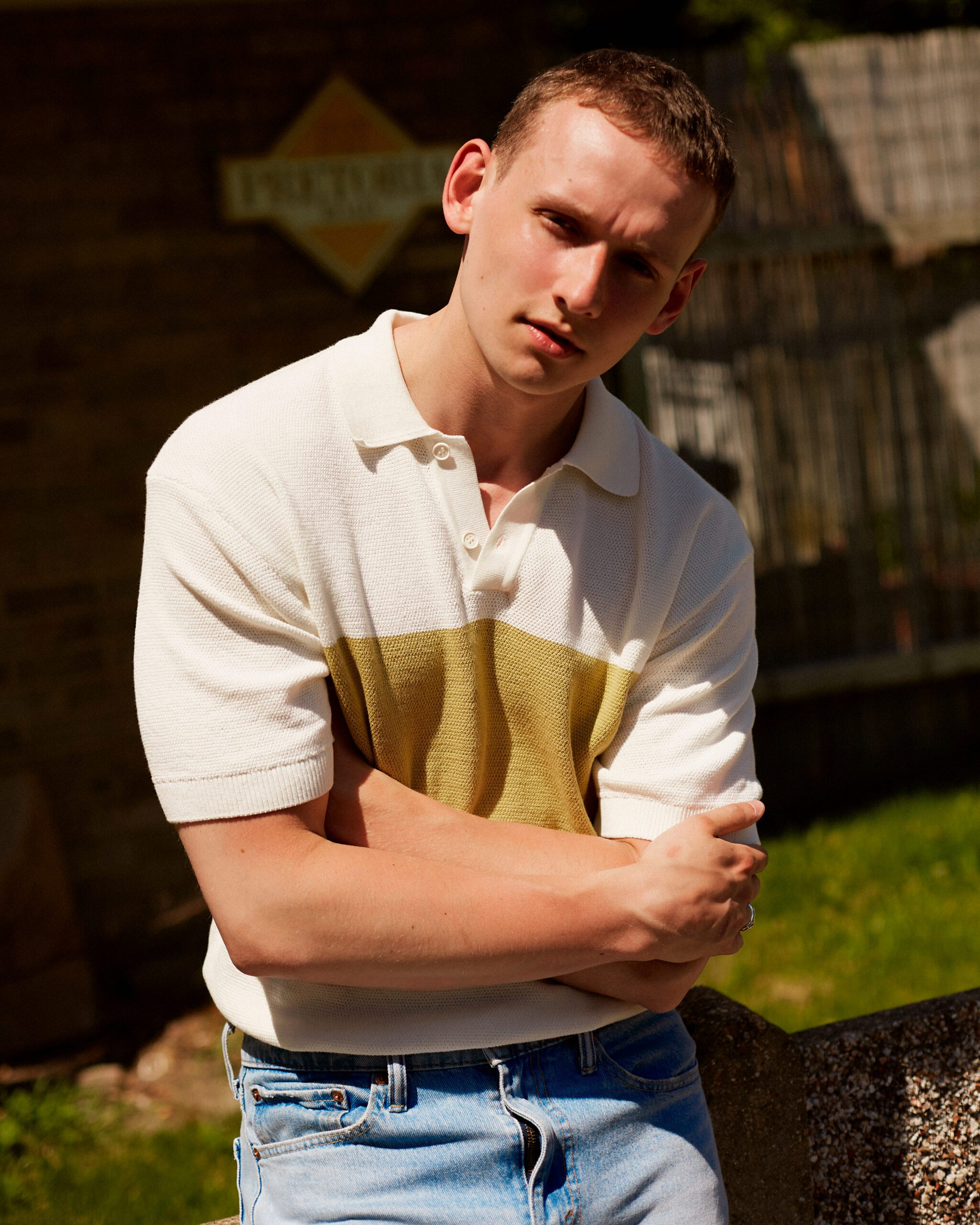 male model in park