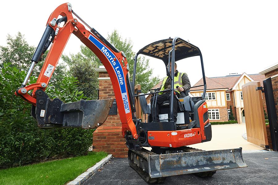 1 5T Kubota Mini Excavator for hire from Morris Leslie Plant
