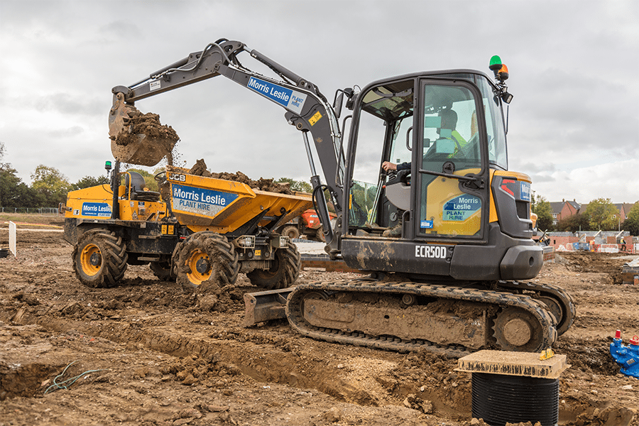 5T Volvo Excavator For Hire From Morris Leslie Plant Hire