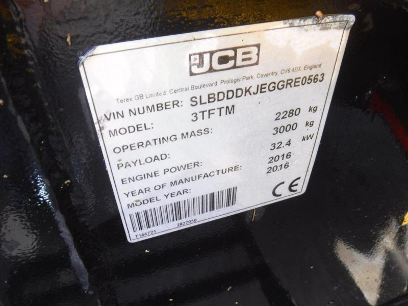 2016 JCB 3T Forward Tip (MLP6272) - Morris Leslie - Plant Sales