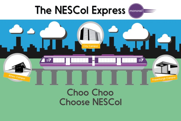 All aboard the NESCol Express!