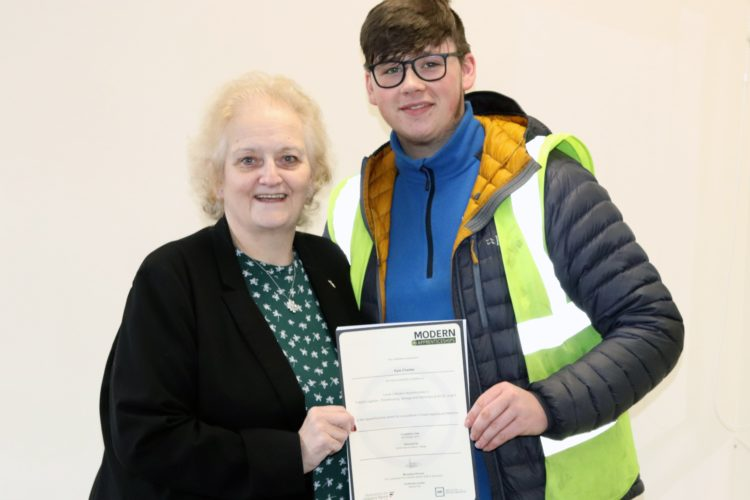Modern Apprenticeship Success for Kyle
