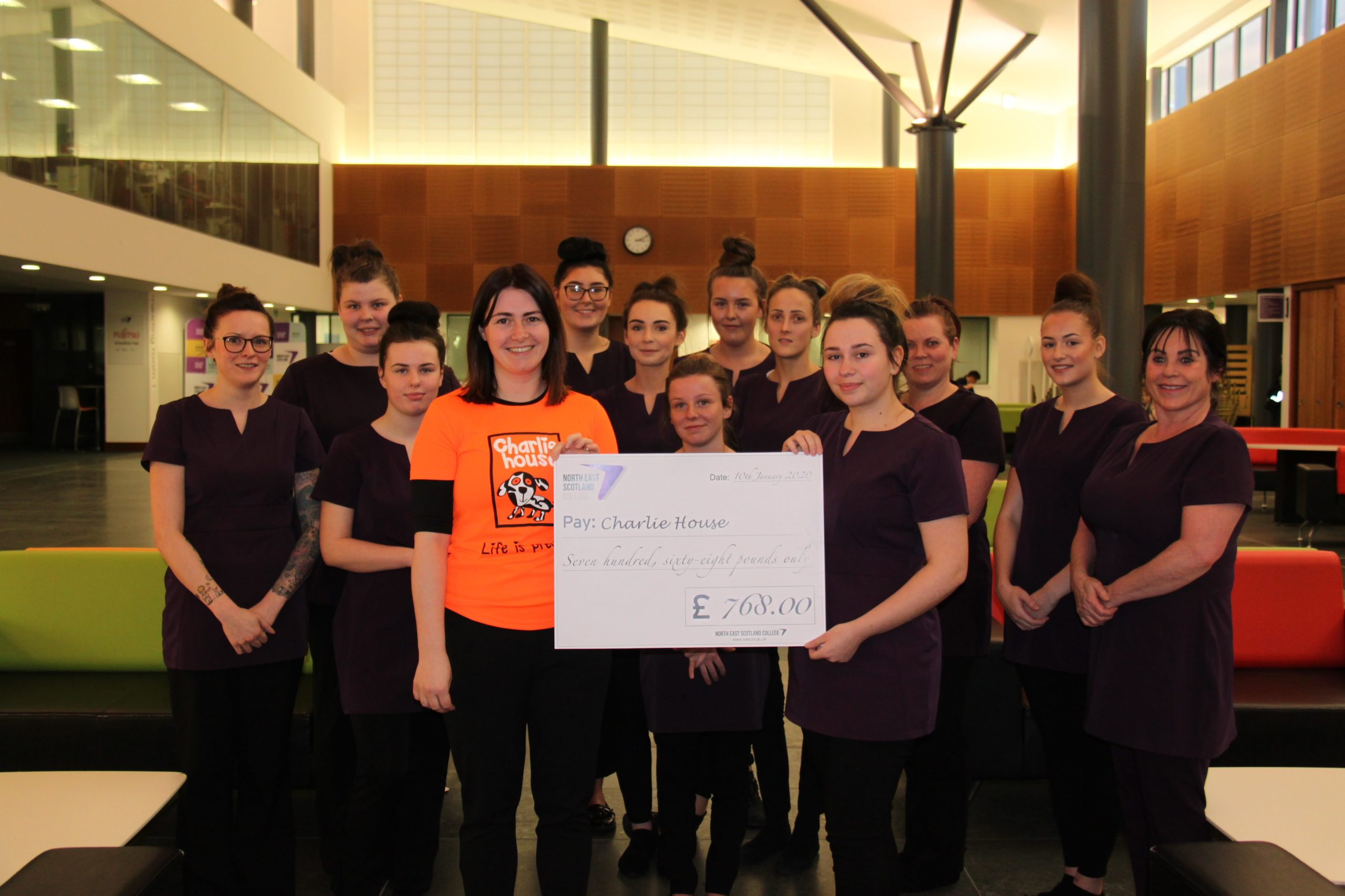 NESCol students Sparkle in fundraising efforts