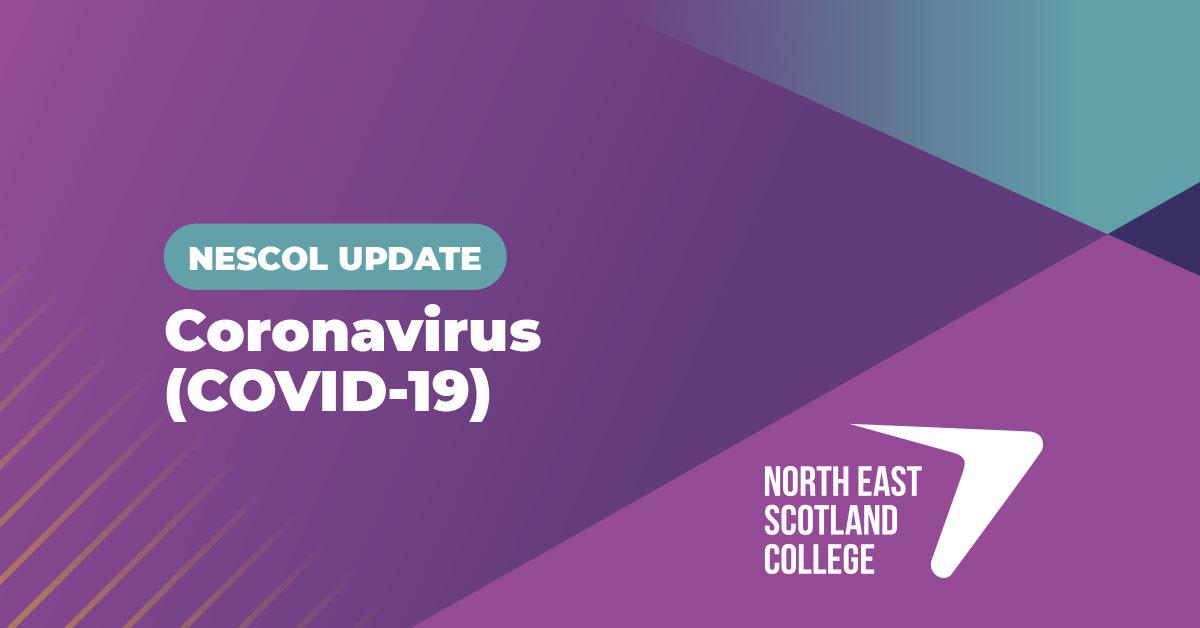 Coronavirus: Important update 16/03/20