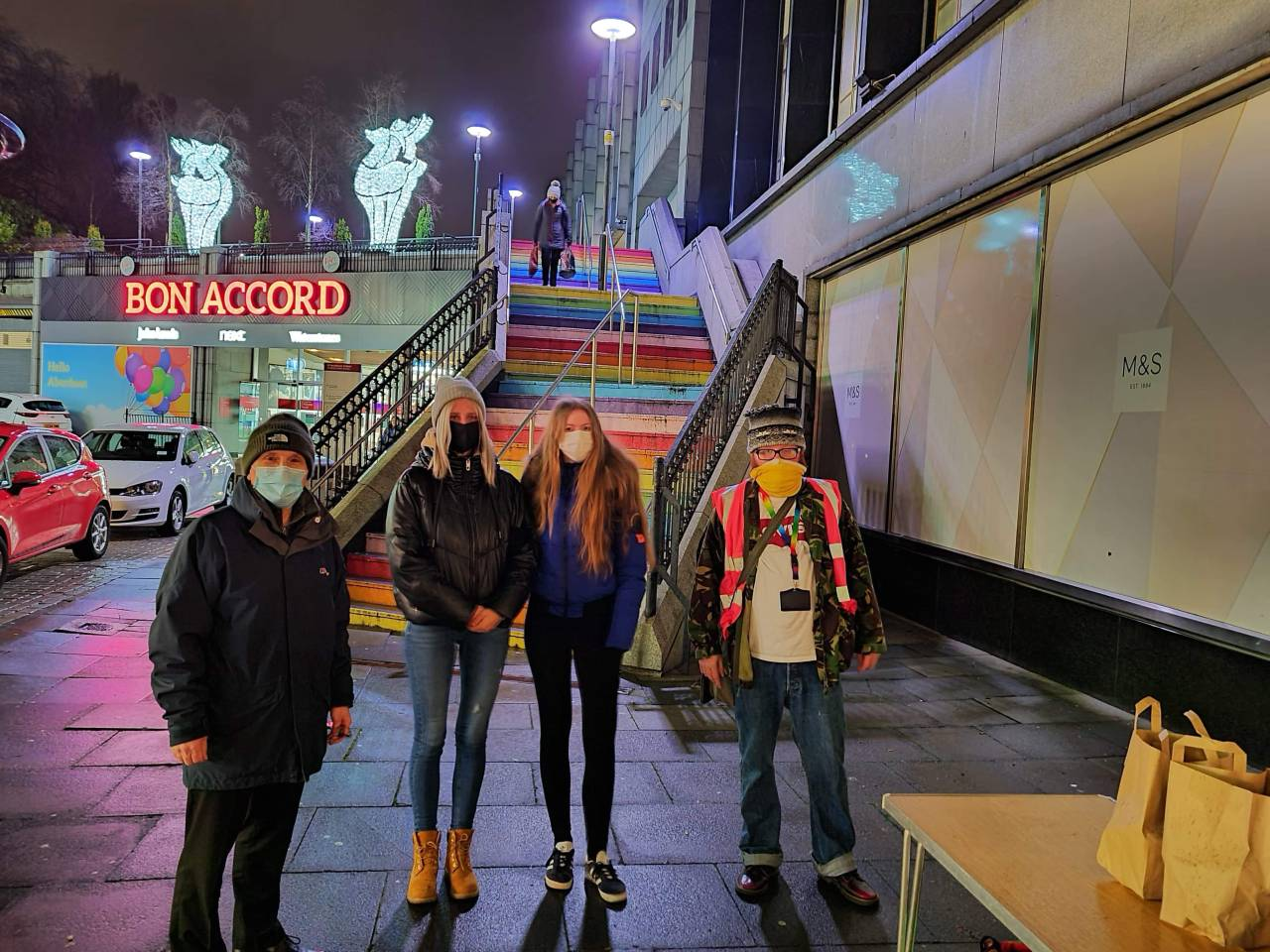 NESCol students and staff provide help for Aberdeen homeless charity