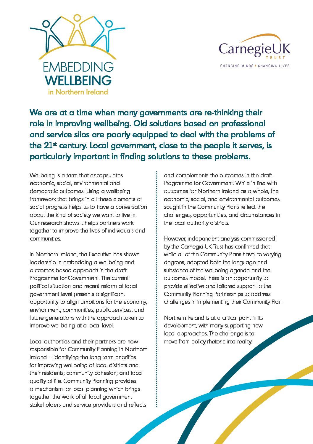 Enabling Wellbeing in Northern Ireland